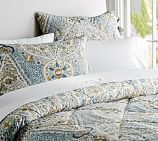 Angie Floral Comforter, Twin, Blue
