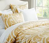 Cailin Duvet Cover, Full/Queen, Yellow
