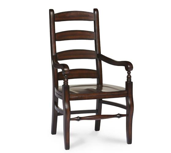 Wynn Ladderback Armchair, Chestnut/Rustic Mahogany stain