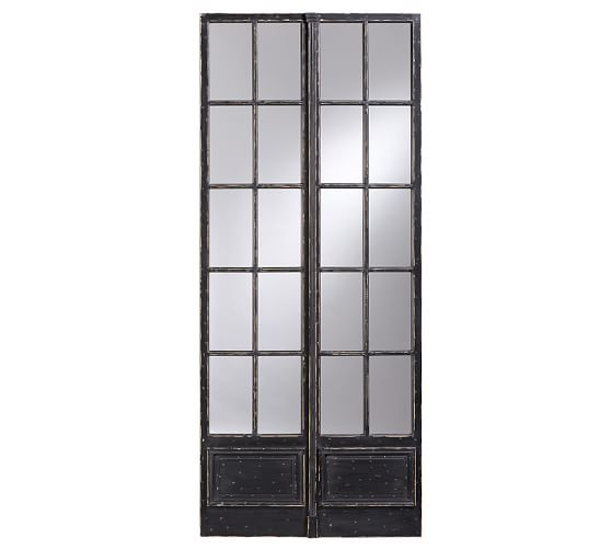 Vintage Paned Mirror, 40 x 96