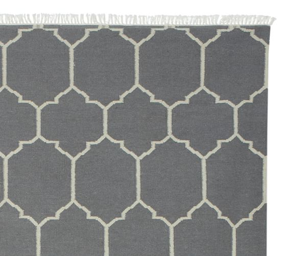 Quincy Kilim Rug Swatch, Gray