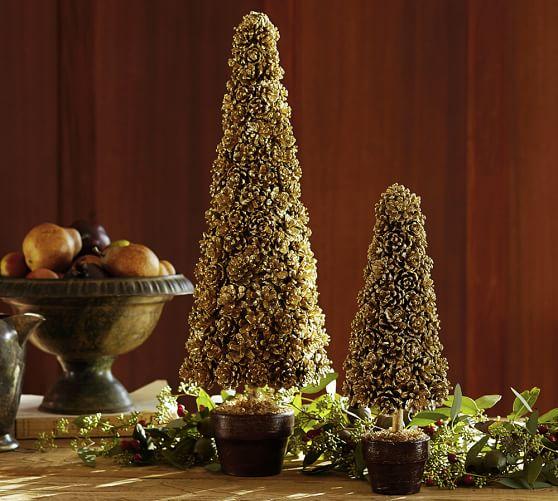 Gold Pincone Topiary, Medium