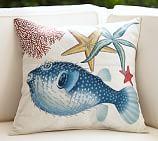 Playa Puffer Fish Outdoor Pillow, 20