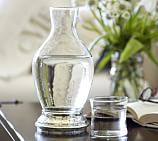 Mercury & Clear Glass Decanter