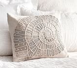 Embellished Shell Pillow Cover, 18