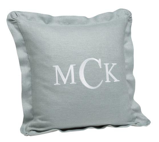 Chunky Linen Ruffle Pillow Cover 18