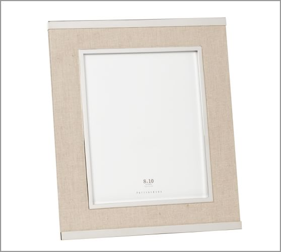 Silver & Linen Picture Frame, 8 x 10