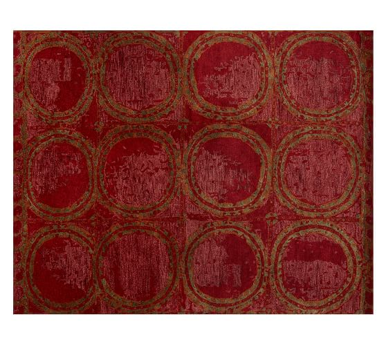 Hearst Tufted Wool Rug, 2.5x9', Red