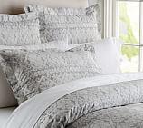 Pearson Snowflake Stripe Duvet Cover, Twin, Gray