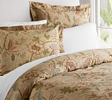 Elizabeth Floral Organic Cotton Duvet Cover, Twin, Multicolor