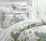 Annie Floral Organic Cotton Duvet Cover, Twin, Multicolor