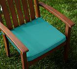 Sunbrella&#0174 Piped Outdoor Dining Chair Cushion, Aruba