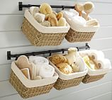 Hannah Wall Basket Storage System Small Towel Bar