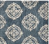 Empire Scroll Wool Rug Swatch, 18 x 18