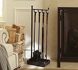 Industrial Fireplace 5-Piece Tool Set