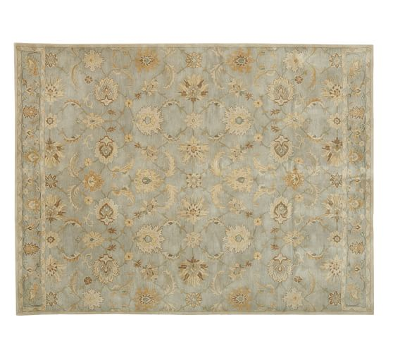 Gabrielle Persian-Style Tufted Wool Rug, 3x5', Blue