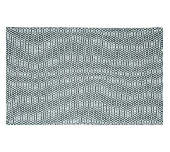 Basic Diamond Recycled Yarn Indoor/Outdoor Rug, 5x8', Blue