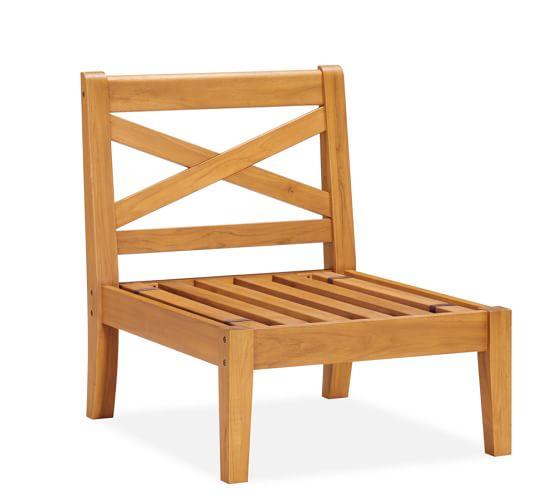 Hampstead Teak Sectional - Armless Chair