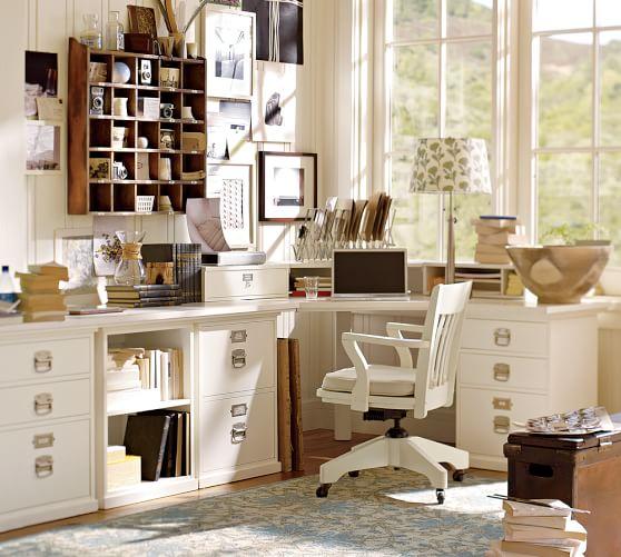 Bedford Small Desktop with Legs, Norfolk Gray