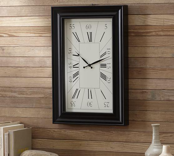 Rectangular Wall Clock, 16 x 24