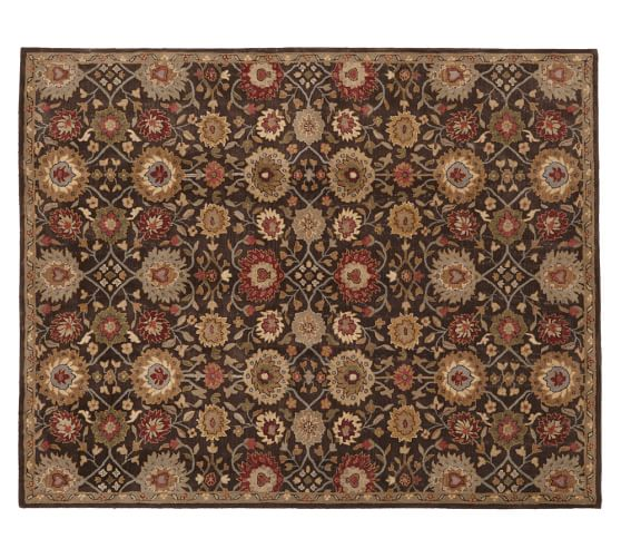 Isaac Persian-Style Rug 3x5', Espresso