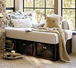 Stratton Daybed with Baskets, Mahogany stain