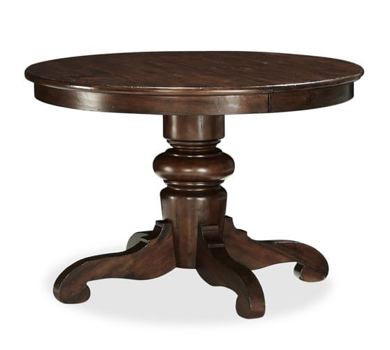 Tivoli Extending Round Dining Table, Tuscan Chestnut stain