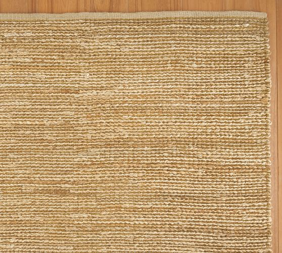 Heathered Chenille Jute Rug Swatch, Natural