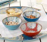 Elsa Medallion Melamine Snack Bowl, Mixed Set of 4