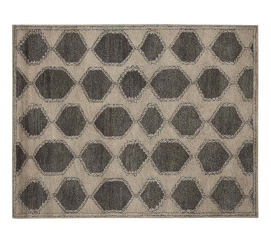 Fulton Tufted Wool Rug, 2.5x9', Charcoal
