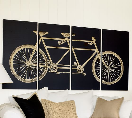 Tandem Bicycle Canvas, 96 x 48
