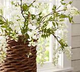 Faux Wisteria Branch, White