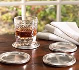 Antique Silver Drink Coasters, Set of 4