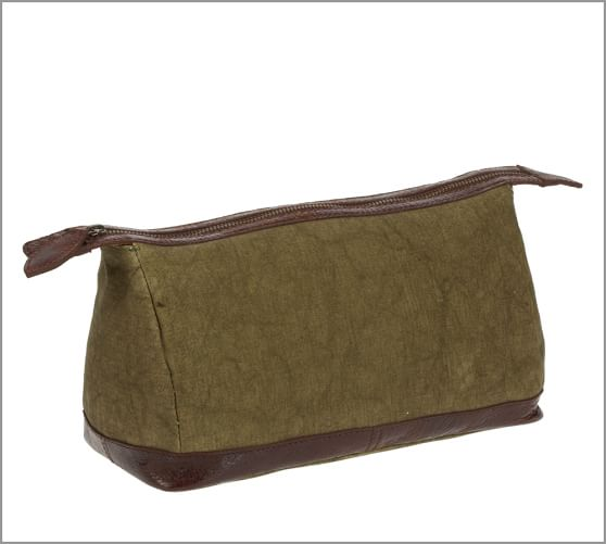 Union Recycled Canvas Toiletry Case, Moss