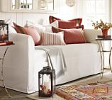 Lewis Daybed Mattress Slipcover, Twill White