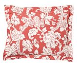 Robyn Palampore Organic Cotton Sham, Standard, Coral