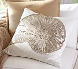 Sequin Coastal Shell Embroidered Pillow Cover 20