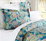 Ana Paisley Duvet Cover, Twin, Midnight Blue