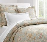 Whitney Floral Duvet Cover, Twin, Porcelain Blue