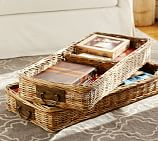 Caden Square Ottoman Divided Basket