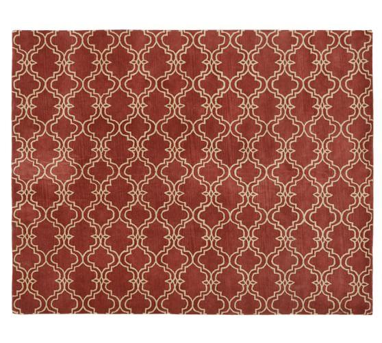 Scroll Tile Rug, 3x5', Terra Cotta