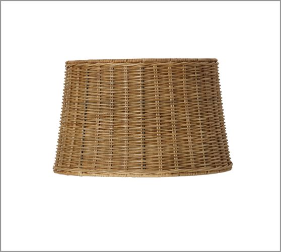 Woven Wicker Lamp Shade, Medium