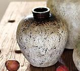 River Terra Cotta Vase, Small, Chocolate