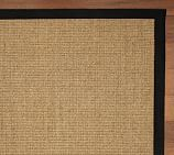 Color-Bound Natural Sisal Rug Swatch, Black Border