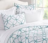 Jackie Applique, Quilt, Twin, Aqua