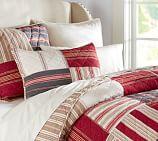 Multistripe Patchwork Quilt, Twin, Multicolor