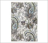 Charlie Paisley Organic 600-gram Weight Hand Towel, Blue