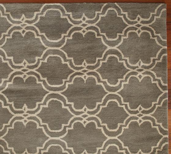 Scroll Tile Rug Swatch, 18 x 18