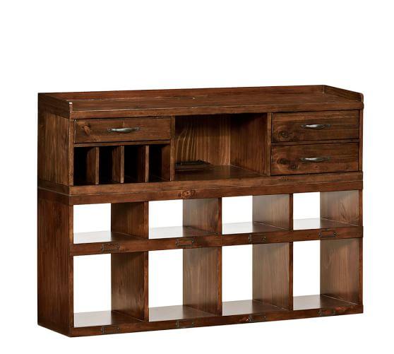 Olivia 2-Piece Bench Smart Technology™ Organizer System (1 Bench + 1 Smart Technology™ Organizer), Tuscan Chestnut stain