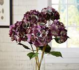 Faux Purple Hydrangea Stem